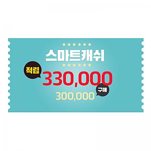 스마트캐쉬 30만원 상품권, 카드결제, 쿠폰 및 적립금으로 구입불가!(행사기간 제외)