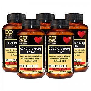 수퍼 고함량 고 코엔자임 Q10 400mg + 비타민D, 뉴질랜드 유기농 아마씨유 함유