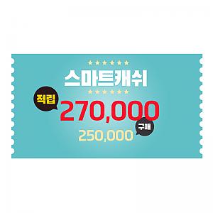스마트캐쉬 25만원 상품권, 카드결제, 쿠폰 및 적립금으로 구입불가!(행사기간 제외)